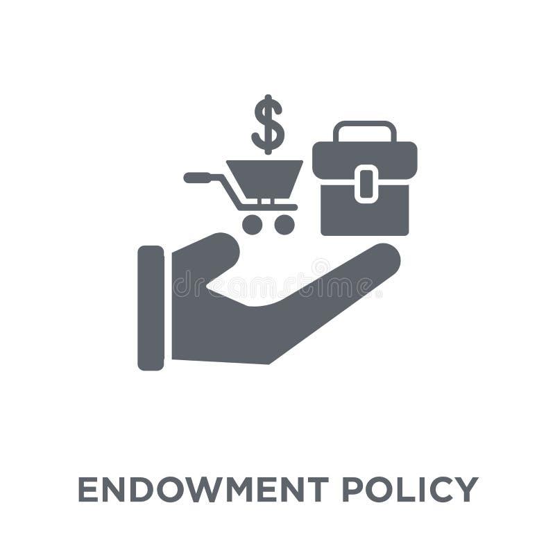 Ícone da política da doação da coleção da política da doação ilustração royalty free