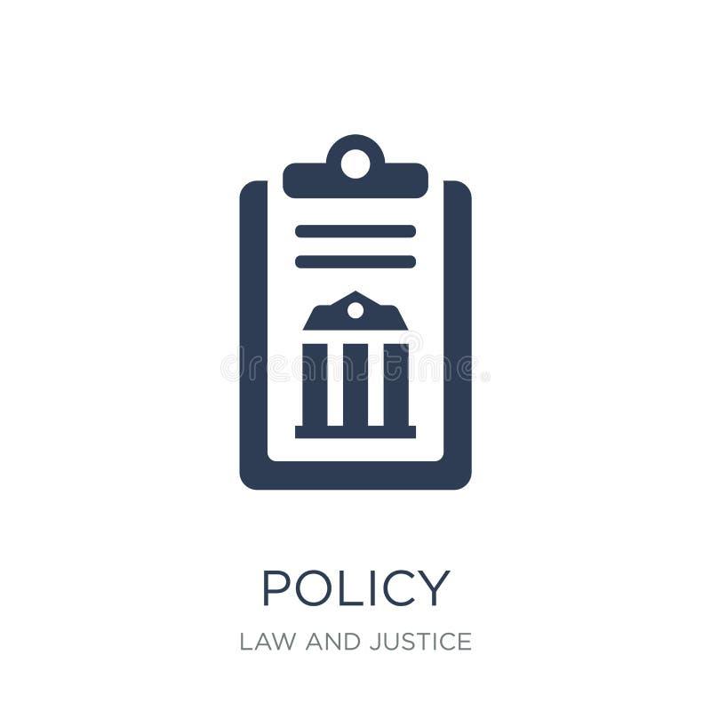 ícone da política Ícone liso na moda da política do vetor no fundo branco ilustração do vetor