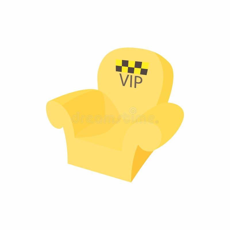 Ícone da poltrona do táxi do VIP, estilo dos desenhos animados ilustração do vetor