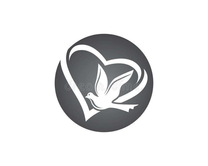 Ícone da pomba ilustração stock