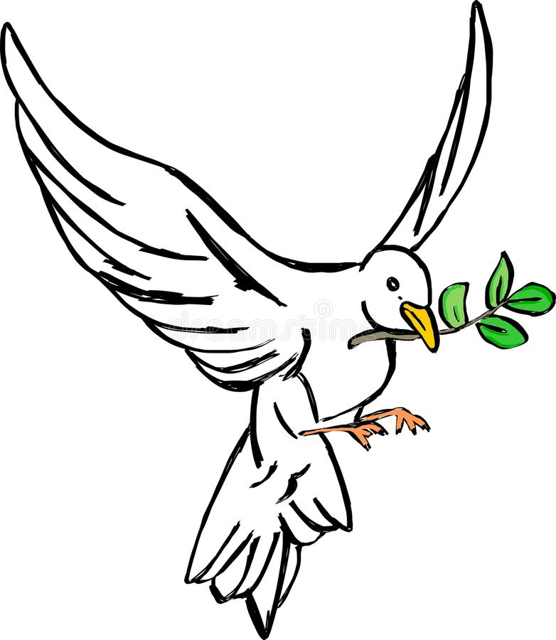 Ícone da pomba ilustração do vetor