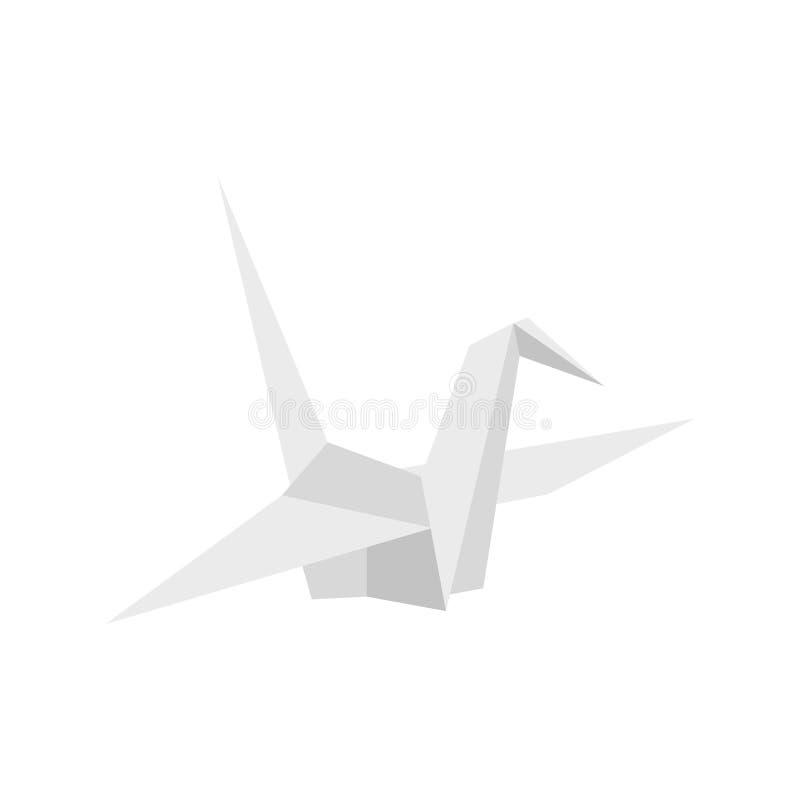 Ícone da pomba do papel, estilo liso ilustração do vetor