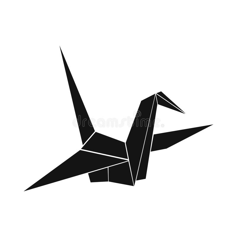 Ícone da pomba do papel, estilo simples ilustração stock