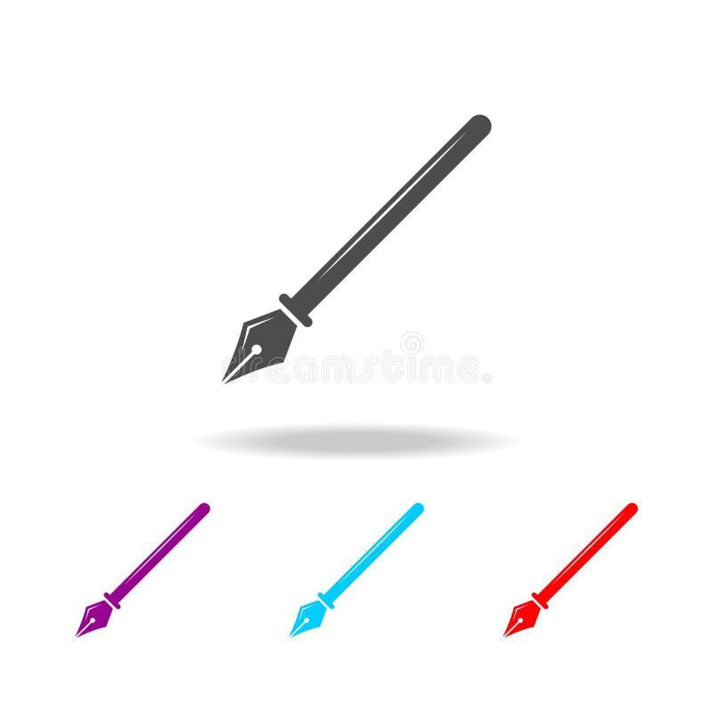 Ícone da ponta da pena de fonte Elementos da educação em multi ícones coloridos Ícone superior do projeto gráfico da qualidade Íc ilustração royalty free
