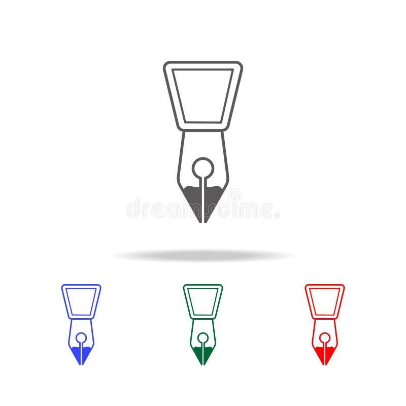 Ícone da ponta da pena de fonte Elementos de multi ícones coloridos da educação Ícone superior do projeto gráfico da qualidade Íc ilustração royalty free