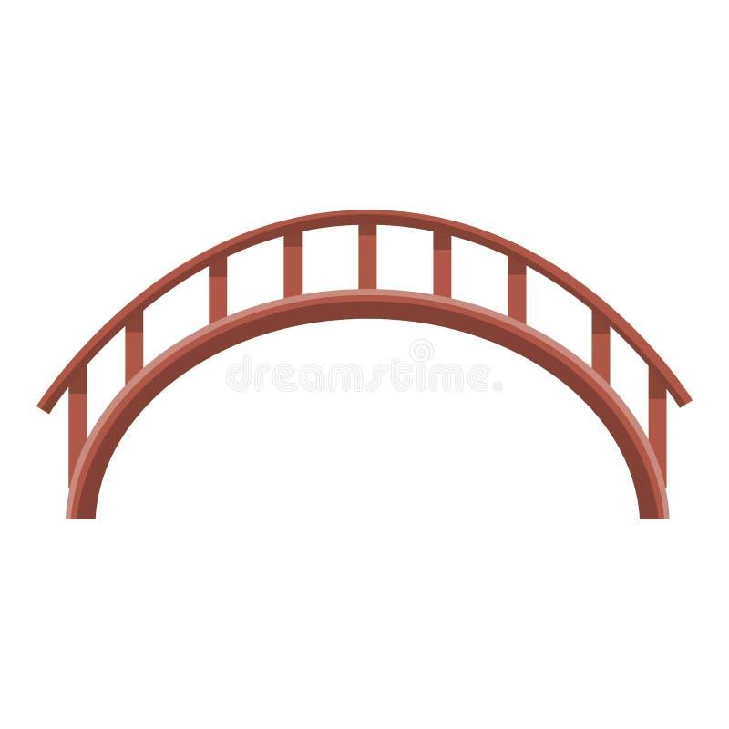 Ícone da ponte de Japão, estilo dos desenhos animados ilustração do vetor