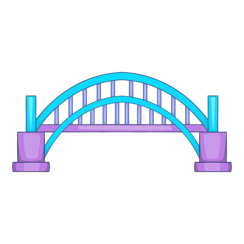 Ícone da ponte de Sydney Harbour, estilo dos desenhos animados ilustração do vetor