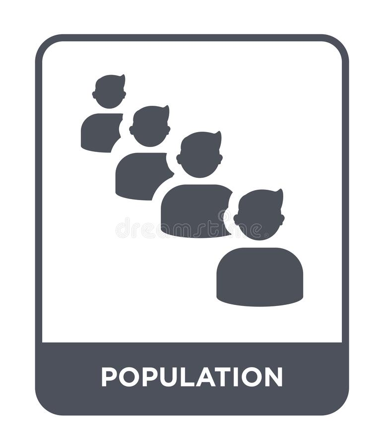 ícone da população no estilo na moda do projeto ícone da população isolado no fundo branco ícone do vetor da população simples e  ilustração do vetor