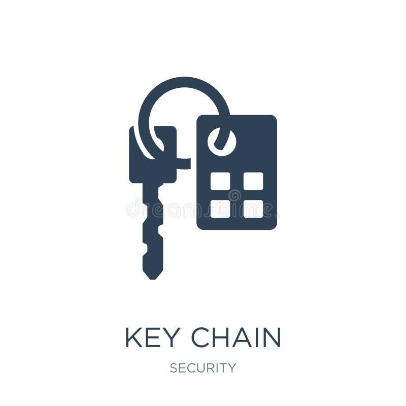 ícone da porta-chaves no estilo na moda do projeto ícone da porta-chaves isolado no fundo branco plano simples e moderno do ícone ilustração royalty free