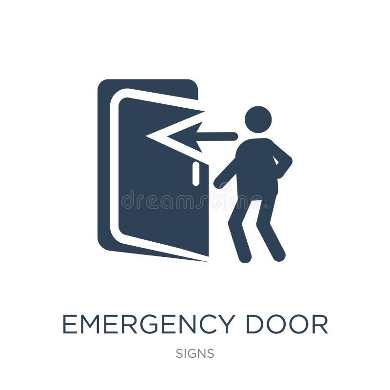 ícone da porta de emergência no estilo na moda do projeto ícone da porta de emergência isolado no fundo branco ícone do vetor da  ilustração royalty free