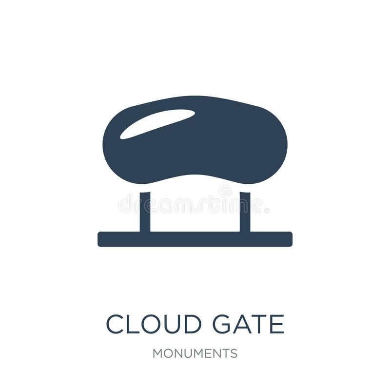 ícone da porta da nuvem no estilo na moda do projeto ícone da porta da nuvem isolado no fundo branco ícone do vetor da porta da n ilustração royalty free
