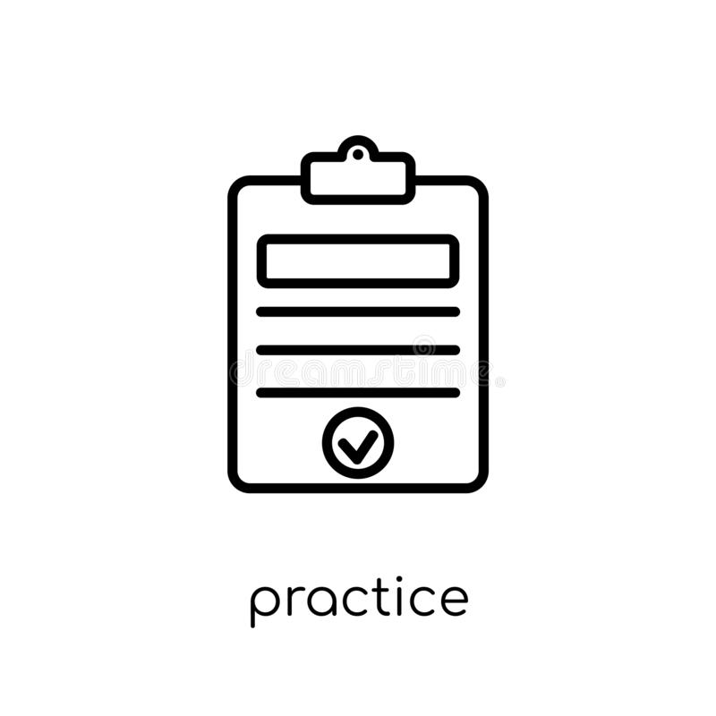 Ícone da prática da coleção da produtividade ilustração royalty free