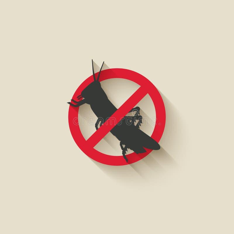 Ícone da praga de inseto dos locustídeo ilustração royalty free