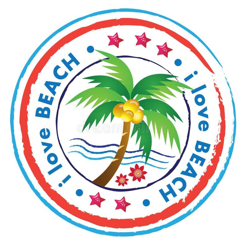 Ícone da praia ilustração stock
