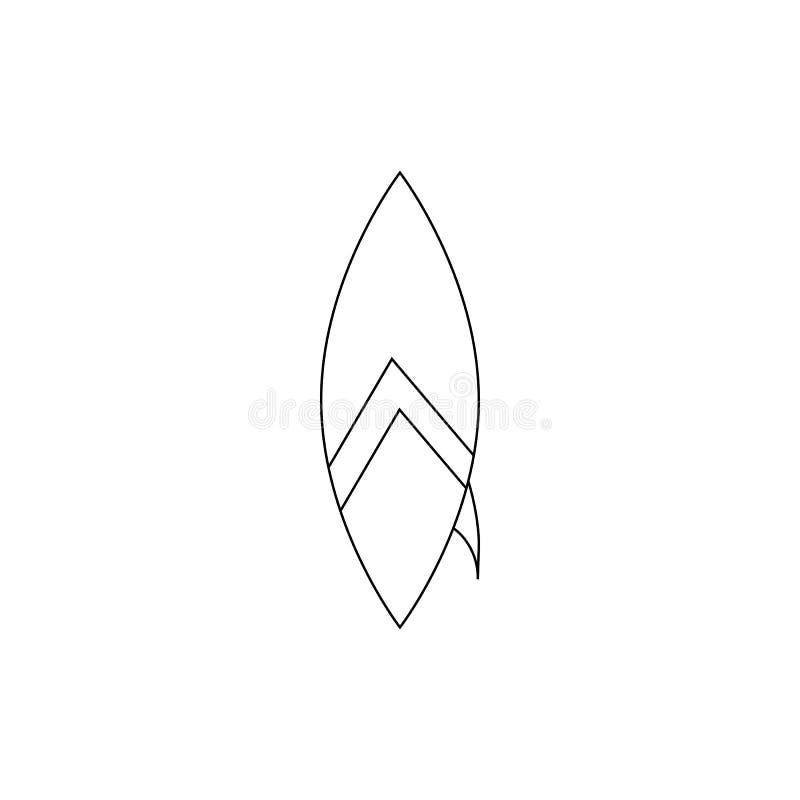 Ícone da prancha, estilo do esboço ilustração stock