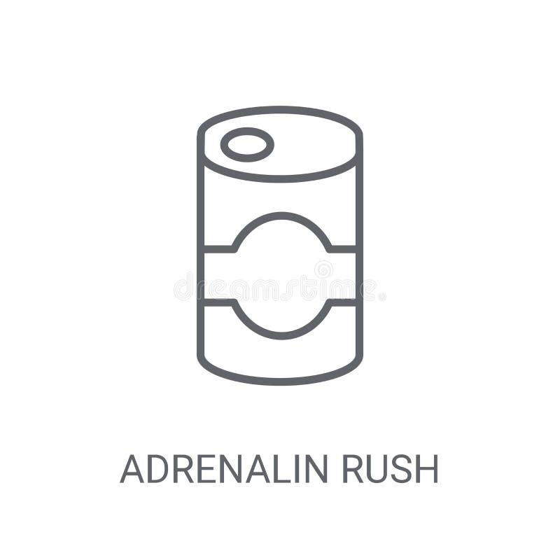 Ícone da precipitação da adrenalina Conceito na moda do logotipo da precipitação da adrenalina no branco ilustração do vetor