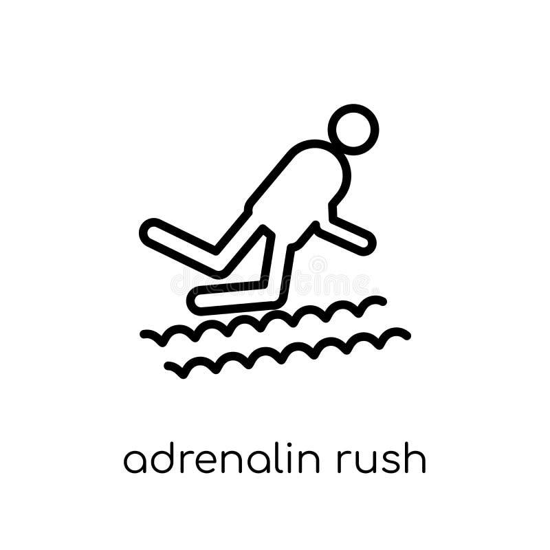 Ícone da precipitação da adrenalina Adrenalina linear lisa moderna na moda do vetor ilustração royalty free