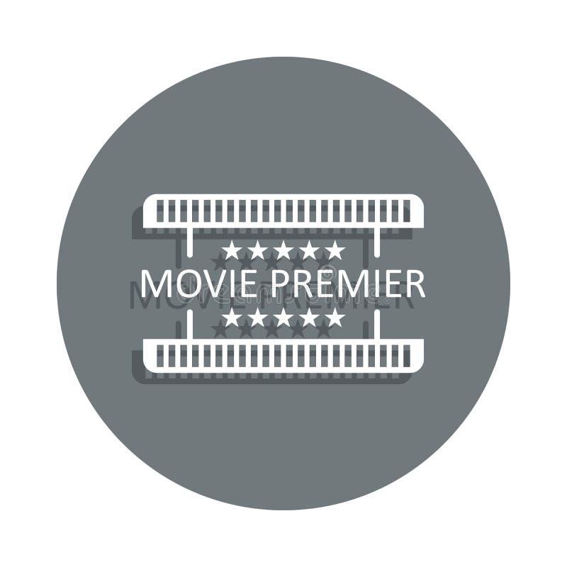 ícone da premier do filme no estilo do crachá Um do ícone da coleção do cinema pode ser usado para UI, UX ilustração do vetor