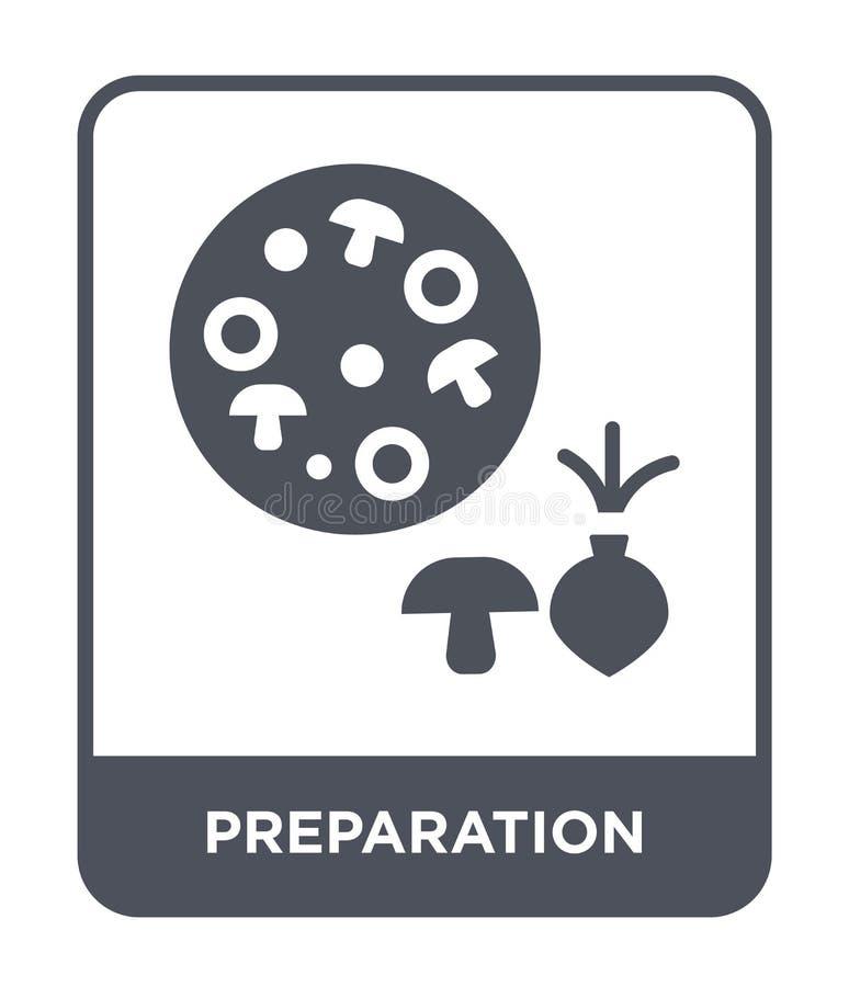 ícone da preparação no estilo na moda do projeto Ícone da preparação isolado no fundo branco ícone do vetor da preparação simples ilustração stock