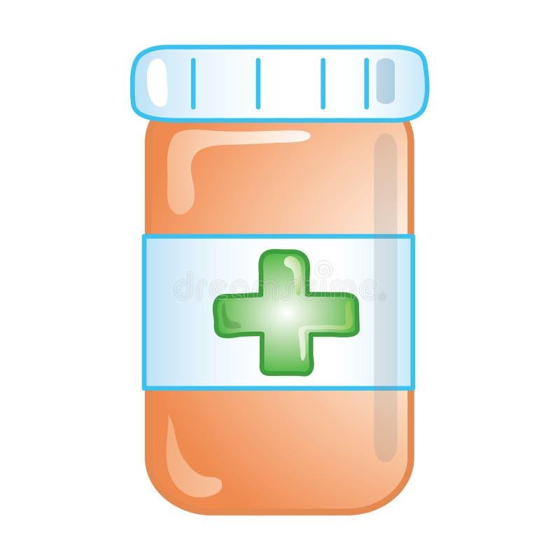 Ícone da prescrição ilustração do vetor