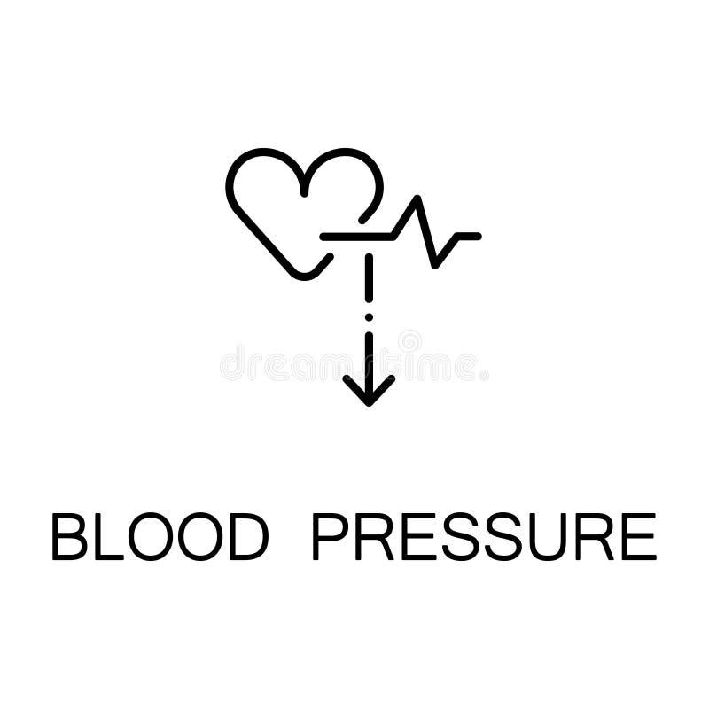 Ícone da pressão sanguínea ilustração royalty free