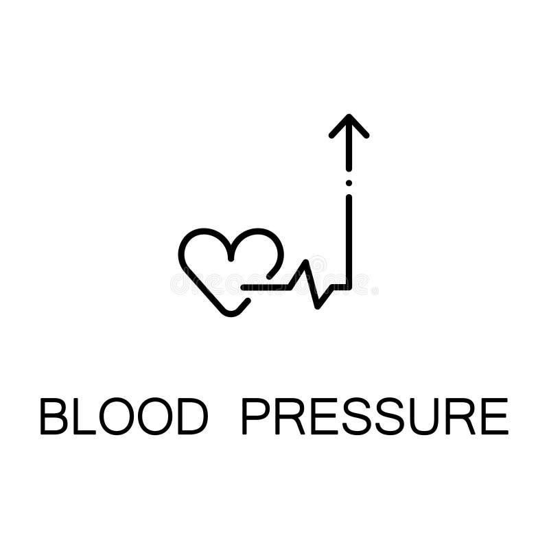 Ícone da pressão sanguínea ilustração do vetor