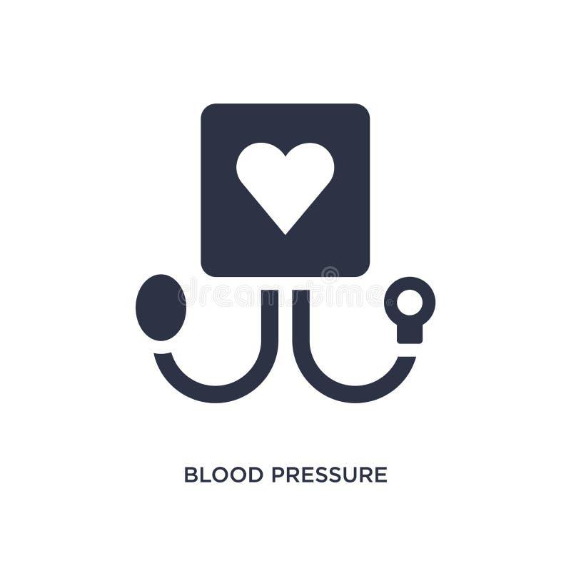 ícone da pressão sanguínea no fundo branco Ilustração simples do elemento do conceito médico ilustração stock