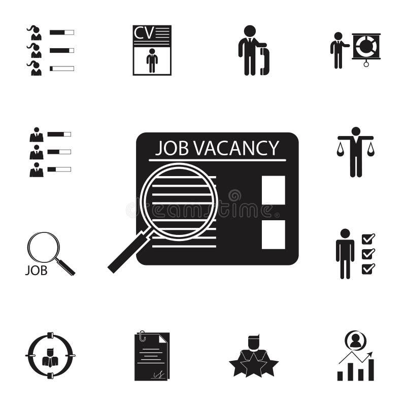 Ícone da procura de emprego Grupo detalhado de ícones da caça da hora & do calor Sinal superior do projeto gráfico da qualidade U ilustração do vetor