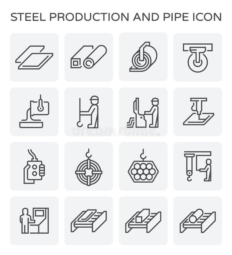 Ícone da produção de aço ilustração royalty free