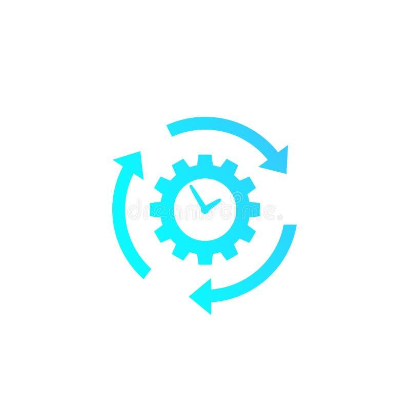 ícone da produtividade e da eficiência ilustração stock
