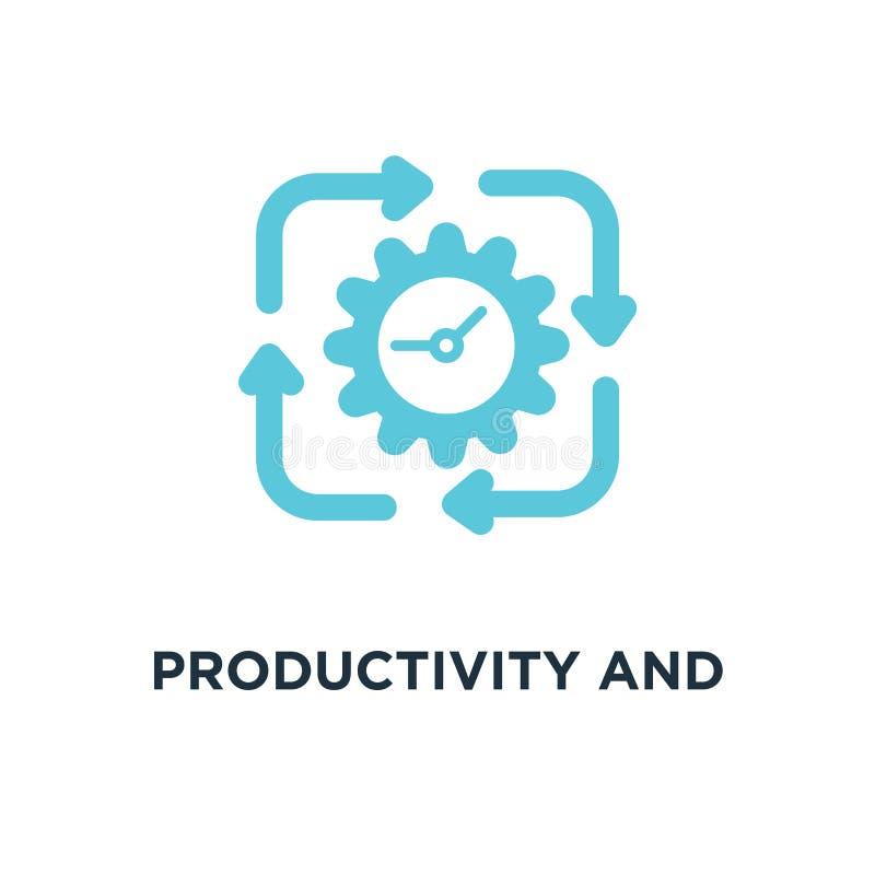 ícone da produtividade e da eficiência produtividade e eficiência co ilustração do vetor