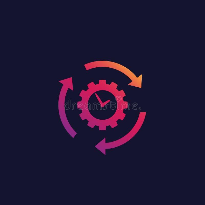 Ícone da produtividade e da eficiência, vetor ilustração stock