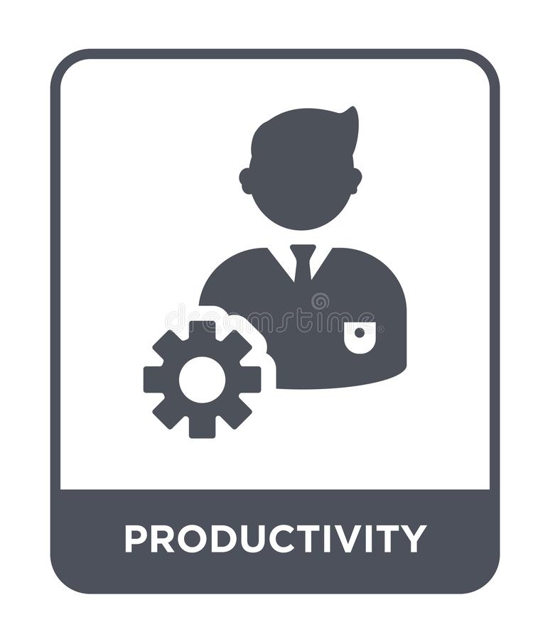 ícone da produtividade no estilo na moda do projeto ícone da produtividade isolado no fundo branco ícone do vetor da produtividad ilustração stock