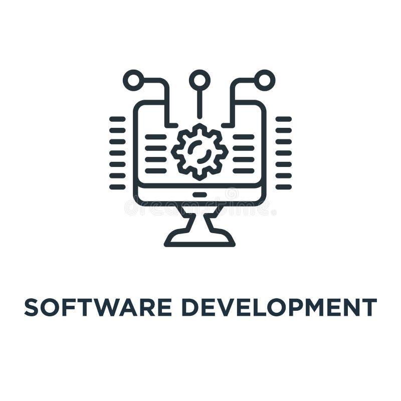 ícone da programação de software conceito da integração e da automatização sy ilustração do vetor