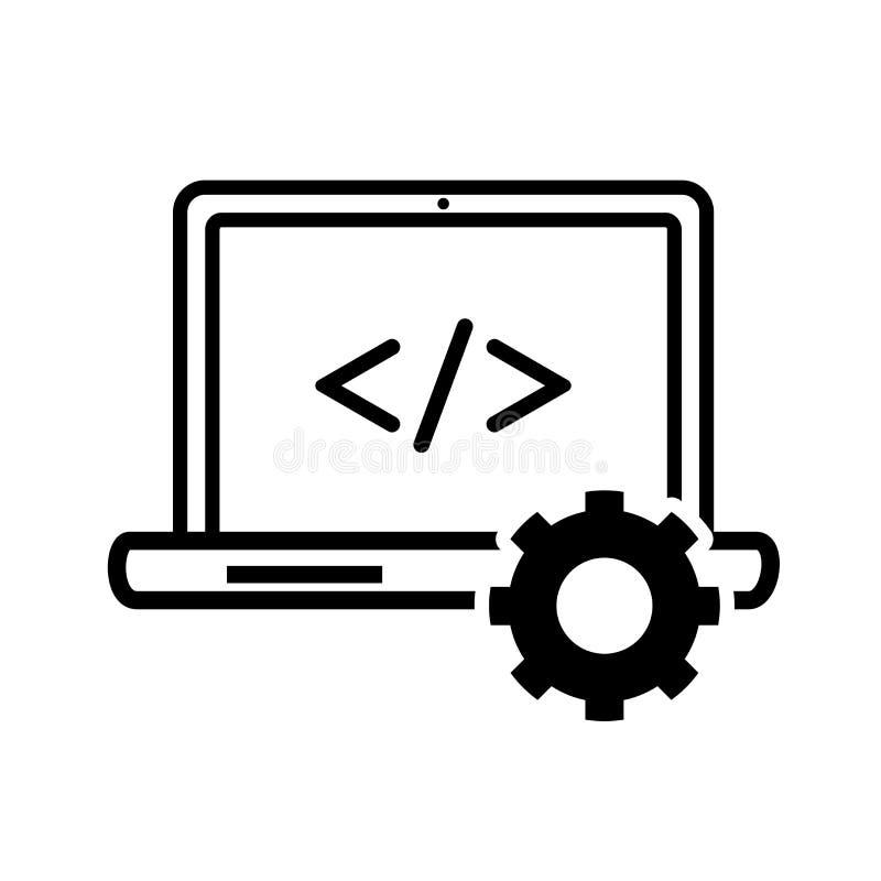 Ícone da programação informática - projeto icônico do vetor ilustração do vetor