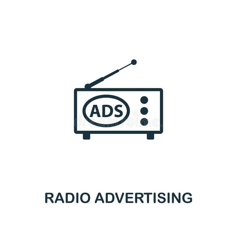 Ícone da propaganda de rádio Projeto superior do estilo de anunciar a coleção do ícone UI e UX E ilustração royalty free