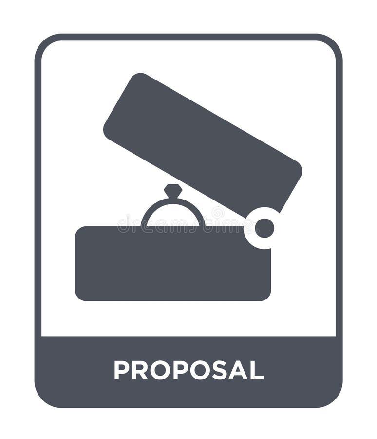 ícone da proposta no estilo na moda do projeto ícone da proposta isolado no fundo branco plano simples e moderno do ícone do veto ilustração royalty free