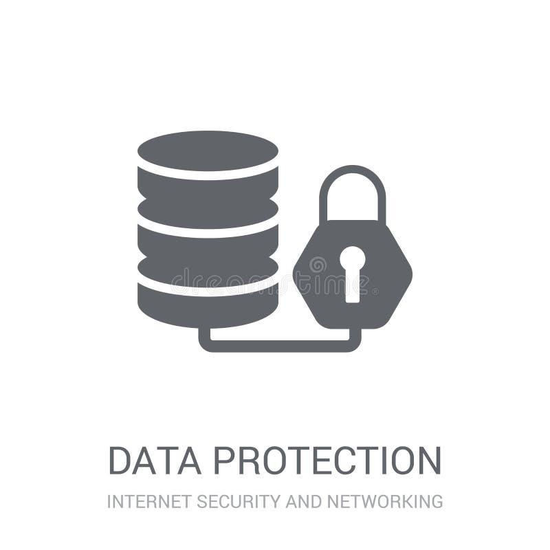 Ícone da proteção de dados  ilustração royalty free