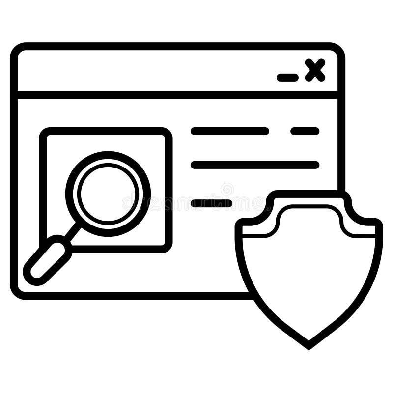 Ícone da proteção do Internet ilustração do vetor