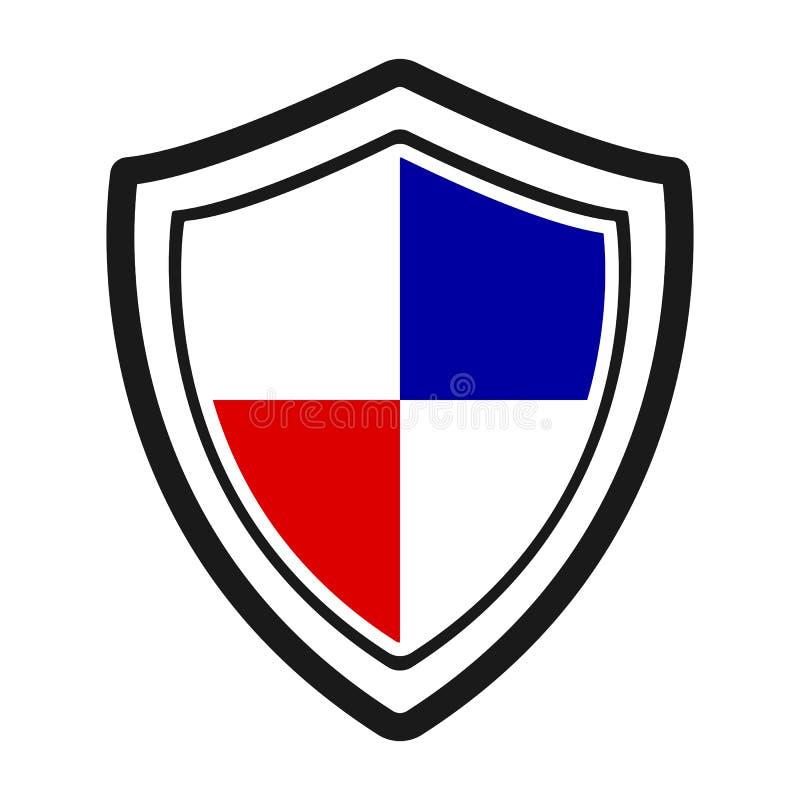 Ícone da proteção Protetor, vetor do ícone do protetor ilustração stock