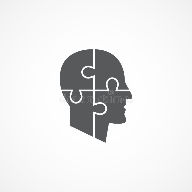 Ícone da psicologia ilustração stock