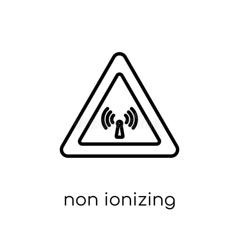 Ícone da radiação não ionizante Vetor linear liso moderno na moda não ilustração stock