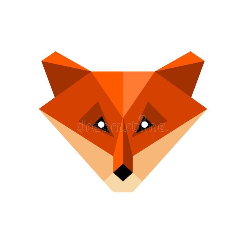 Ícone da raposa do polígono ilustração do vetor