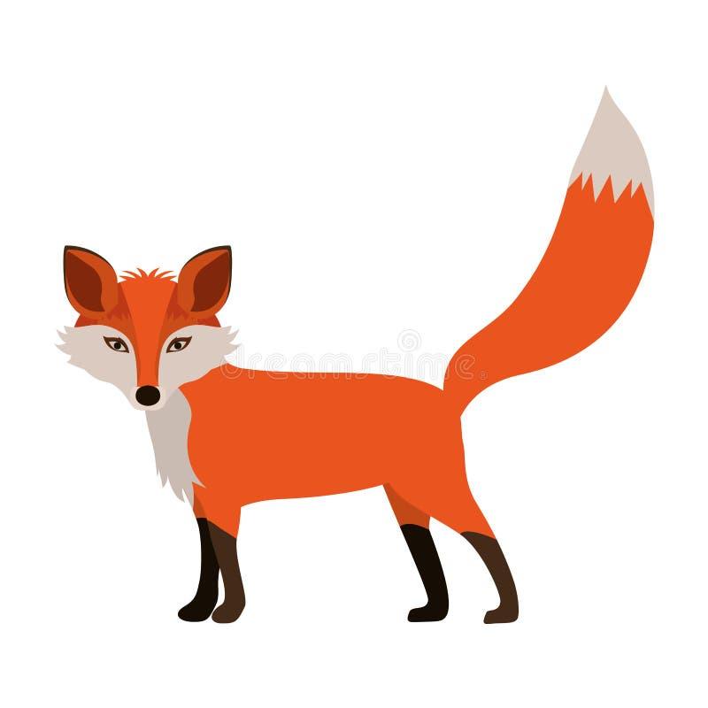 Ícone da raposa dos desenhos animados ilustração stock