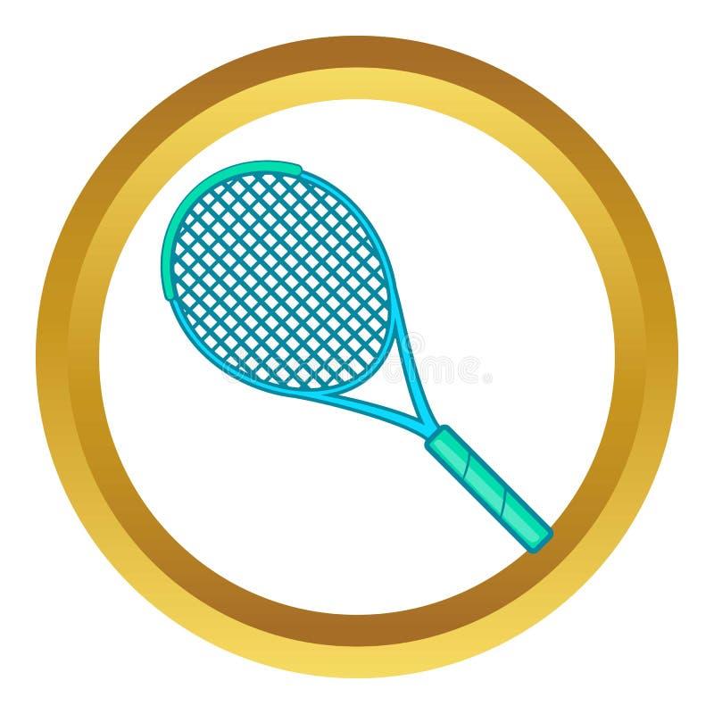 Ícone da raquete de tênis ilustração royalty free