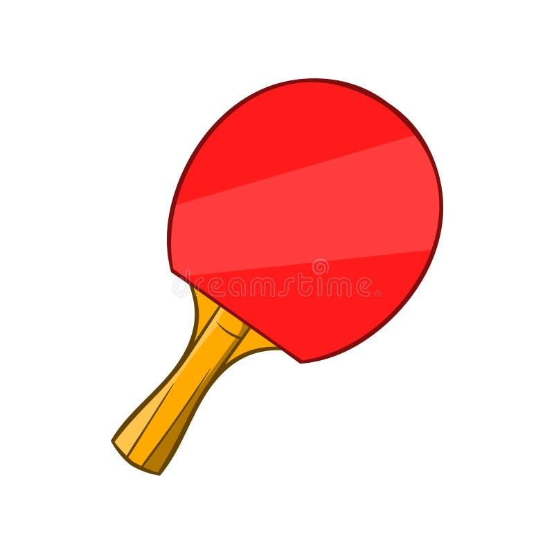 Ícone da raquete de tênis de mesa, estilo dos desenhos animados ilustração royalty free