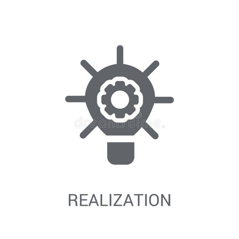 ícone da realização Conceito na moda do logotipo da realização no backg branco ilustração do vetor
