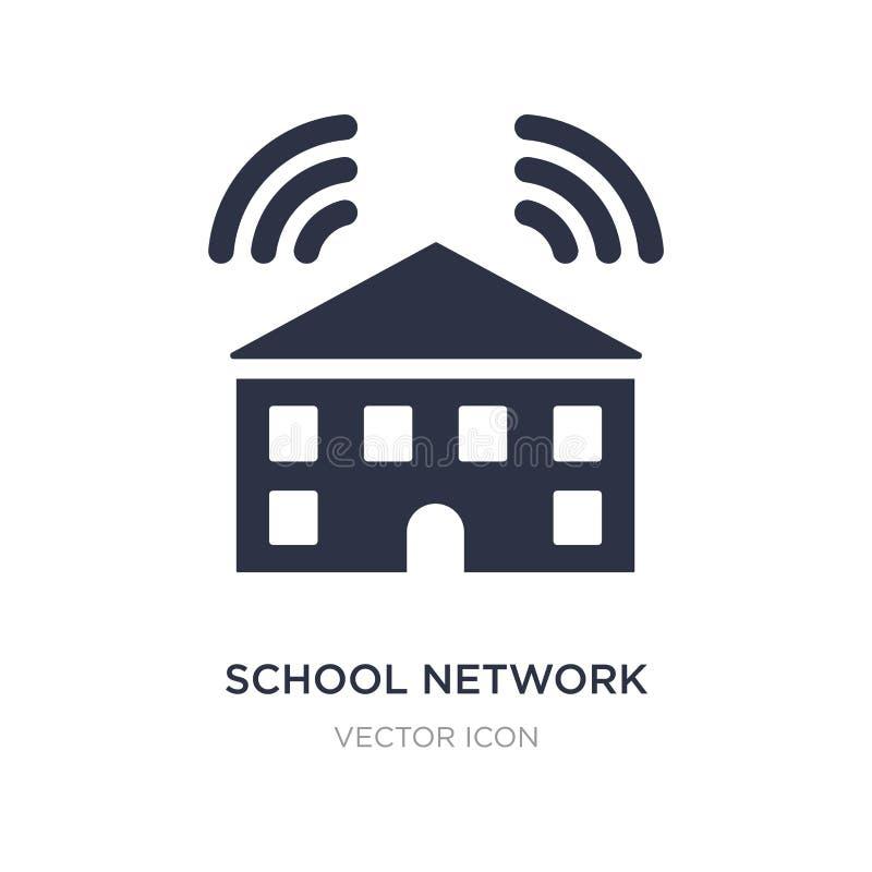 ícone da rede da escola no fundo branco Ilustração simples do elemento do conceito dos trabalhos em rede ilustração do vetor