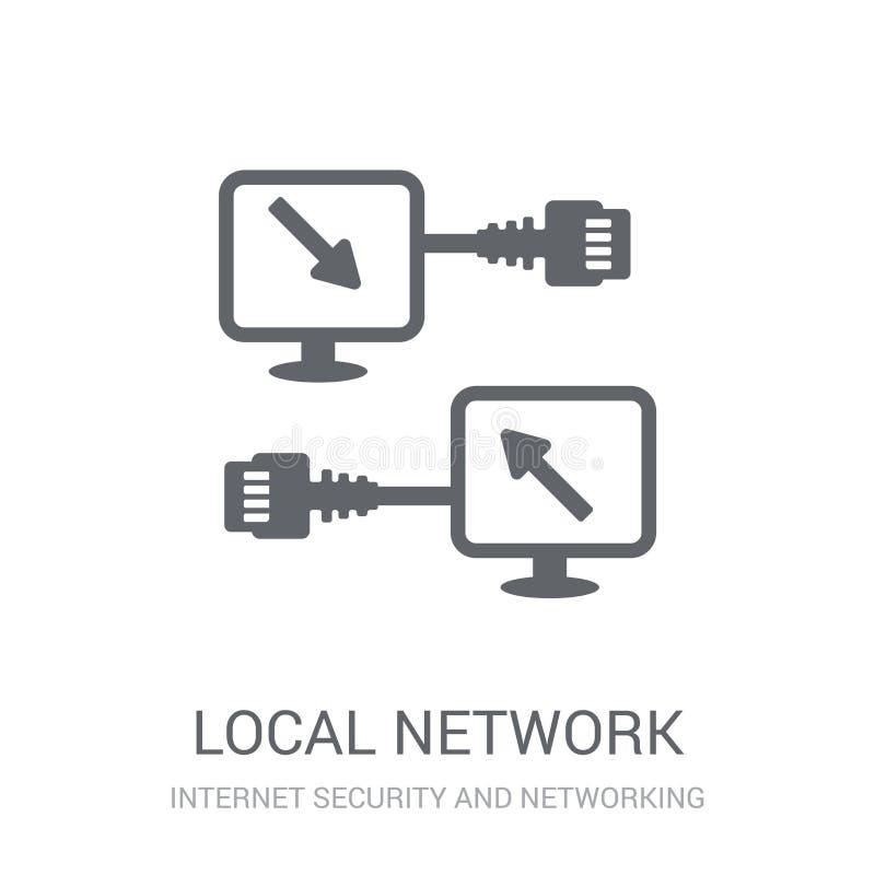 Ícone da rede local  ilustração stock