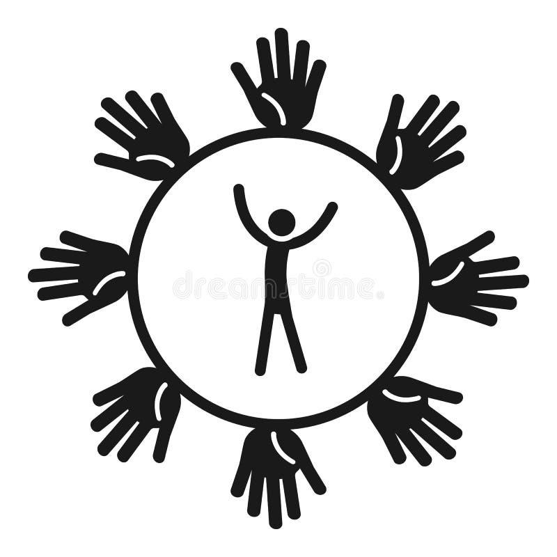 Ícone da relação dos povos, estilo simples ilustração stock